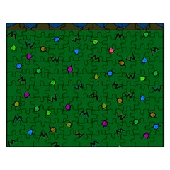 Green Abstract A Colorful Modern Illustration Rectangular Jigsaw Puzzl