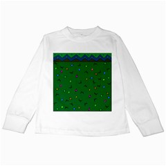Green Abstract A Colorful Modern Illustration Kids Long Sleeve T Shirts