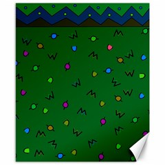 Green Abstract A Colorful Modern Illustration Canvas 8  X 10