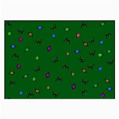 Green Abstract A Colorful Modern Illustration Large Glasses Cloth (2 Side)