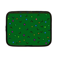 Green Abstract A Colorful Modern Illustration Netbook Case (small)