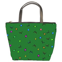 Green Abstract A Colorful Modern Illustration Bucket Bags