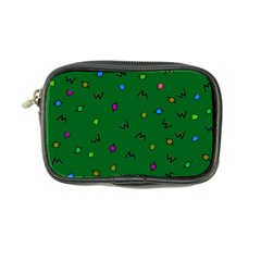 Green Abstract A Colorful Modern Illustration Coin Purse