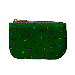Green Abstract A Colorful Modern Illustration Mini Coin Purses