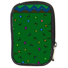 Green Abstract A Colorful Modern Illustration Compact Camera Cases