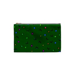 Green Abstract A Colorful Modern Illustration Cosmetic Bag (small)