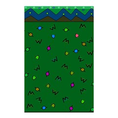 Green Abstract A Colorful Modern Illustration Shower Curtain 48  X 72  (small)
