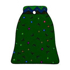 Green Abstract A Colorful Modern Illustration Ornament (Bell)