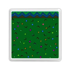 Green Abstract A Colorful Modern Illustration Memory Card Reader (square)