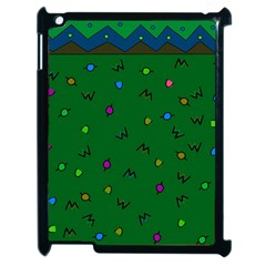 Green Abstract A Colorful Modern Illustration Apple iPad 2 Case (Black)