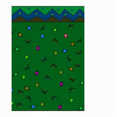 Green Abstract A Colorful Modern Illustration Small Garden Flag (Two Sides)