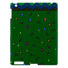 Green Abstract A Colorful Modern Illustration Apple Ipad 3/4 Hardshell Case