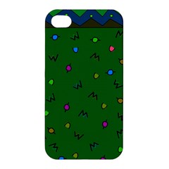 Green Abstract A Colorful Modern Illustration Apple iPhone 4/4S Premium Hardshell Case