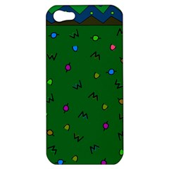 Green Abstract A Colorful Modern Illustration Apple Iphone 5 Hardshell Case
