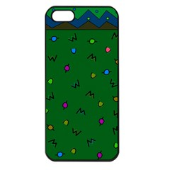 Green Abstract A Colorful Modern Illustration Apple iPhone 5 Seamless Case (Black)