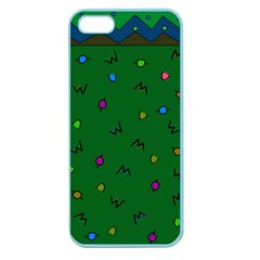 Green Abstract A Colorful Modern Illustration Apple Seamless Iphone 5 Case (color)