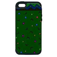 Green Abstract A Colorful Modern Illustration Apple iPhone 5 Hardshell Case (PC+Silicone)
