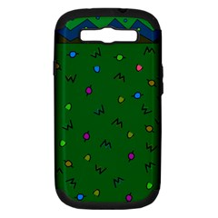 Green Abstract A Colorful Modern Illustration Samsung Galaxy S Iii Hardshell Case (pc+silicone)