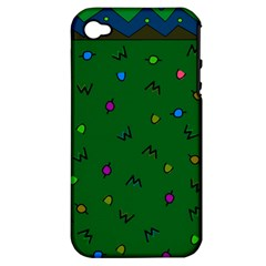 Green Abstract A Colorful Modern Illustration Apple Iphone 4/4s Hardshell Case (pc+silicone)