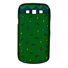 Green Abstract A Colorful Modern Illustration Samsung Galaxy S III Classic Hardshell Case (PC+Silicone)