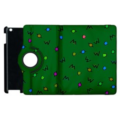 Green Abstract A Colorful Modern Illustration Apple Ipad 2 Flip 360 Case