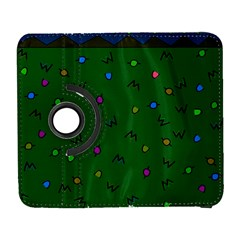 Green Abstract A Colorful Modern Illustration Galaxy S3 (Flip/Folio)