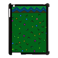 Green Abstract A Colorful Modern Illustration Apple iPad 3/4 Case (Black)