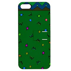 Green Abstract A Colorful Modern Illustration Apple iPhone 5 Hardshell Case with Stand
