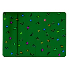Green Abstract A Colorful Modern Illustration Samsung Galaxy Tab 10 1  P7500 Flip Case