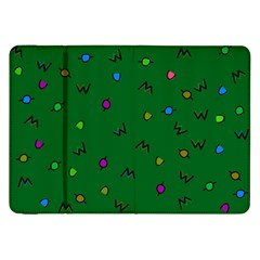 Green Abstract A Colorful Modern Illustration Samsung Galaxy Tab 8.9  P7300 Flip Case