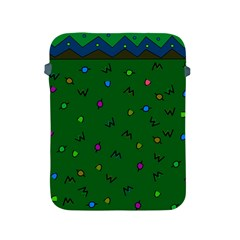 Green Abstract A Colorful Modern Illustration Apple iPad 2/3/4 Protective Soft Cases