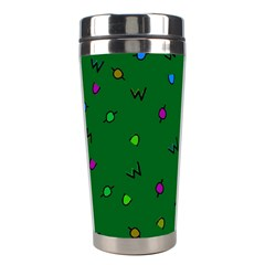 Green Abstract A Colorful Modern Illustration Stainless Steel Travel Tumblers