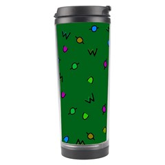 Green Abstract A Colorful Modern Illustration Travel Tumbler