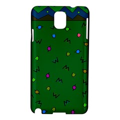 Green Abstract A Colorful Modern Illustration Samsung Galaxy Note 3 N9005 Hardshell Case