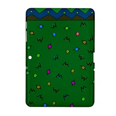 Green Abstract A Colorful Modern Illustration Samsung Galaxy Tab 2 (10.1 ) P5100 Hardshell Case