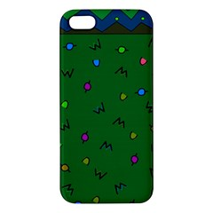 Green Abstract A Colorful Modern Illustration iPhone 5S/ SE Premium Hardshell Case