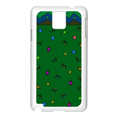 Green Abstract A Colorful Modern Illustration Samsung Galaxy Note 3 N9005 Case (white)