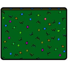 Green Abstract A Colorful Modern Illustration Double Sided Fleece Blanket (Medium)