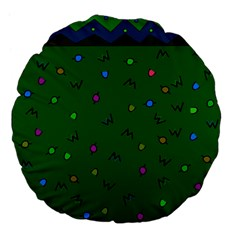 Green Abstract A Colorful Modern Illustration Large 18  Premium Flano Round Cushions