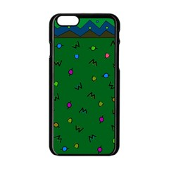 Green Abstract A Colorful Modern Illustration Apple Iphone 6/6s Black Enamel Case