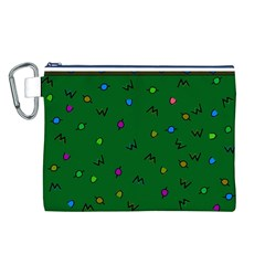 Green Abstract A Colorful Modern Illustration Canvas Cosmetic Bag (l)