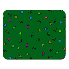 Green Abstract A Colorful Modern Illustration Double Sided Flano Blanket (Large)