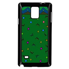Green Abstract A Colorful Modern Illustration Samsung Galaxy Note 4 Case (Black)