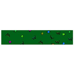 Green Abstract A Colorful Modern Illustration Flano Scarf (Small)