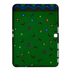 Green Abstract A Colorful Modern Illustration Samsung Galaxy Tab 4 (10 1 ) Hardshell Case