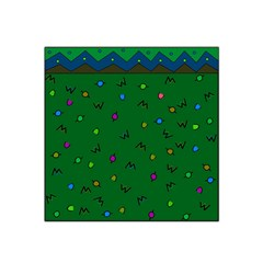 Green Abstract A Colorful Modern Illustration Satin Bandana Scarf