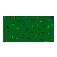 Green Abstract A Colorful Modern Illustration Satin Wrap