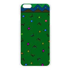 Green Abstract A Colorful Modern Illustration Apple Seamless iPhone 6 Plus/6S Plus Case (Transparent)