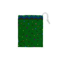Green Abstract A Colorful Modern Illustration Drawstring Pouches (xs)