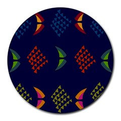 Abstract A Colorful Modern Illustration Round Mousepads